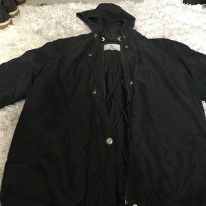 Black London Fog Parka/ Utility Jacket